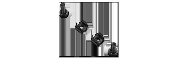 Vertikale Kabelführung M6 Schrauben und Muttern