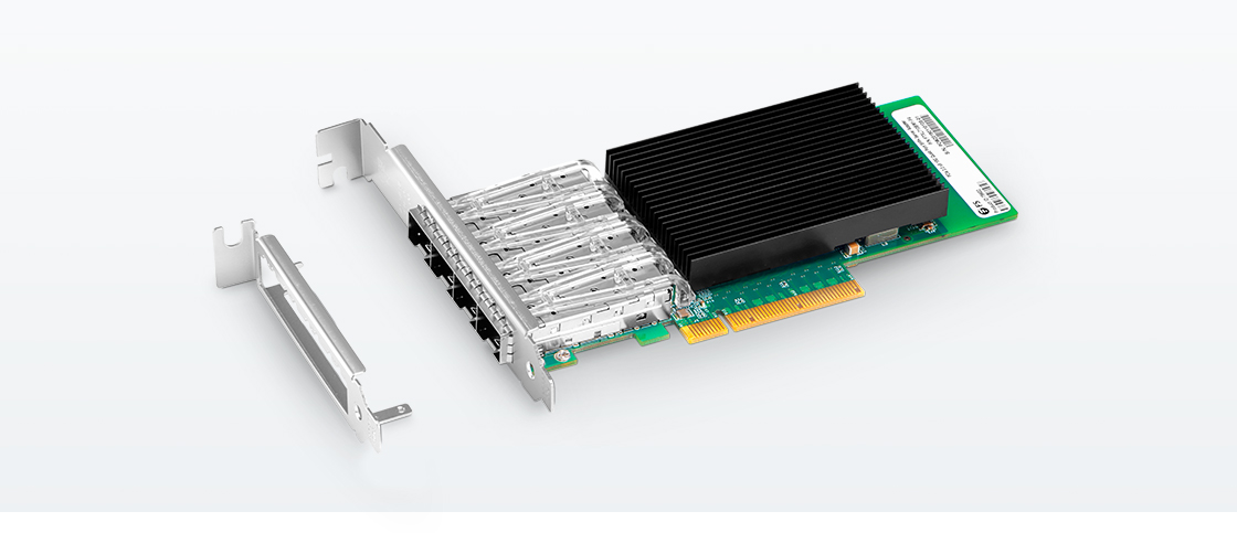 Intel® XL710-BM1 Quad-Port 10 Gigabit SFP+ PCIe 3 0 x8, Ethernet Network  Interface Card