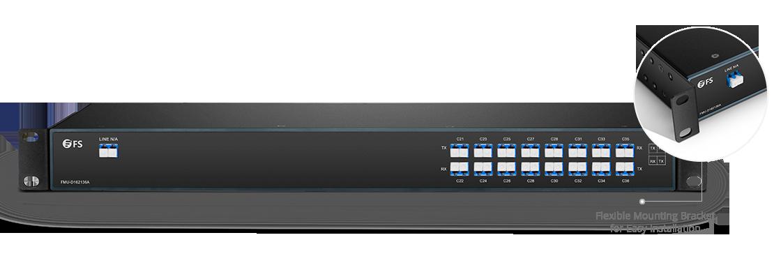 DWDM Mux Demux  Mux/Demux 16 Channels over Single Fiber in a Pair