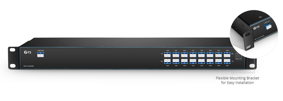 DWDM Mux Demux Mux/Demux 16 Channels over Single Fiber in a Pair