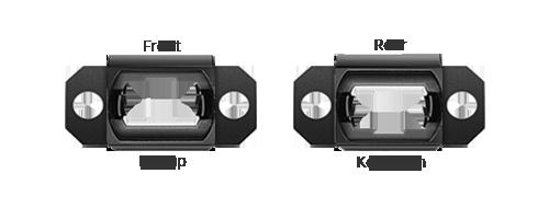 Adaptadores/Acopladores Orientación de tecla opuesta