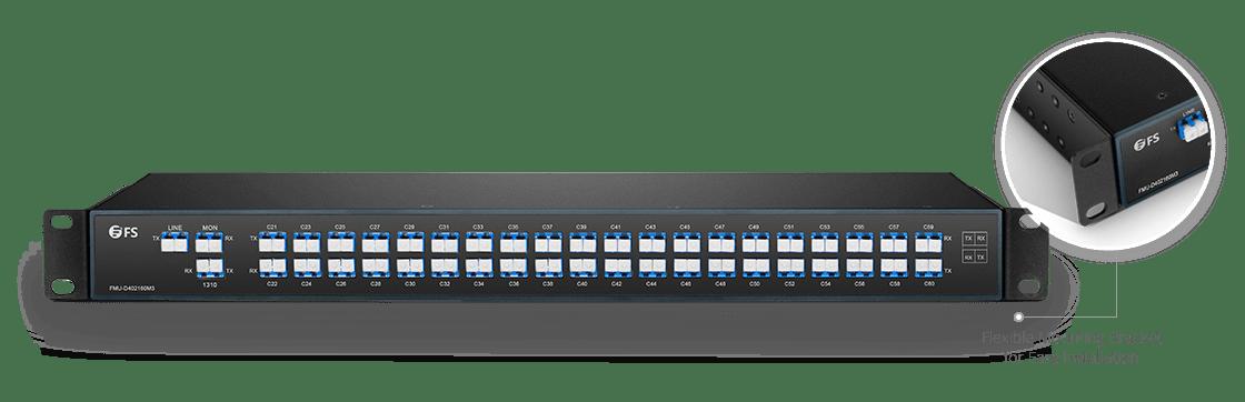 Mux Demux y OADM personalizado Mux/Demux 40/44 canales sobre fibra dual