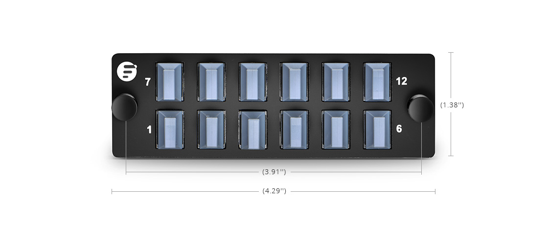 Panneaux d'Adaptateur LC SC MTP FHD  Panneau d'Adaptateur à Fibre de Haute Densité pour les Applications Pass-Through