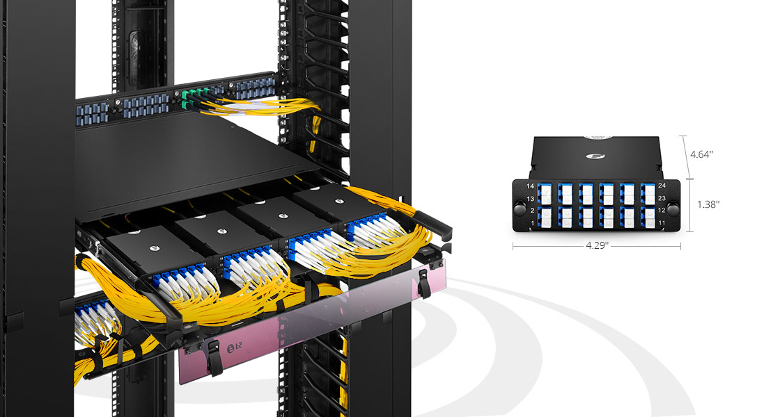 MTP®/MPO Fiber Cassettes Rapid Deployment and Tool-Less Installation