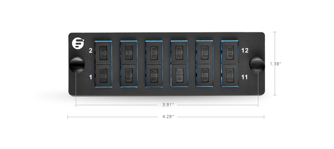 Paneles de Adaptadores Montaje de alta densidad - panel de adaptadores FHD