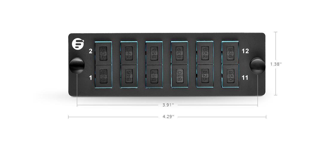 Panneaux de Brassage à Fibre Optique Montage d'Assemblage à Haute Densité - Panneau d'Adaptateur à Fibre Optique FHD