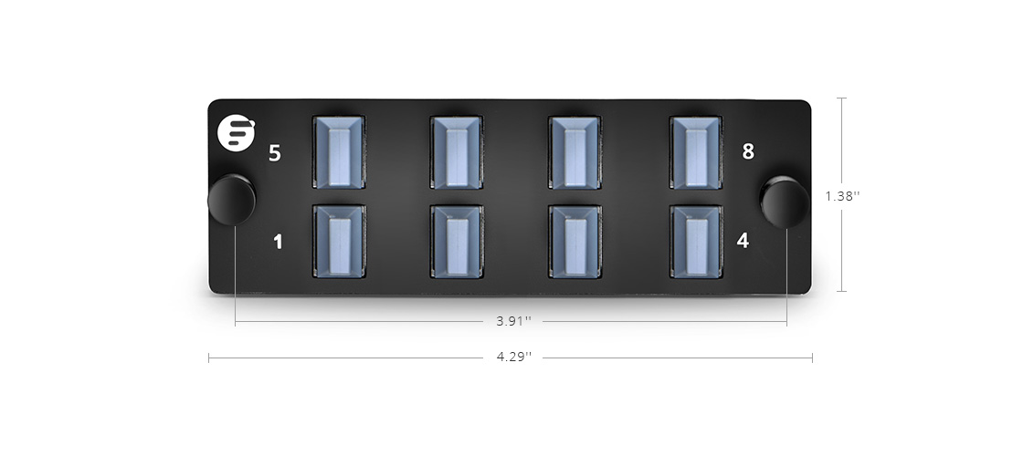 Fibre Optic Panels High Density Fiber Adapter Panel for Pass-through Applications