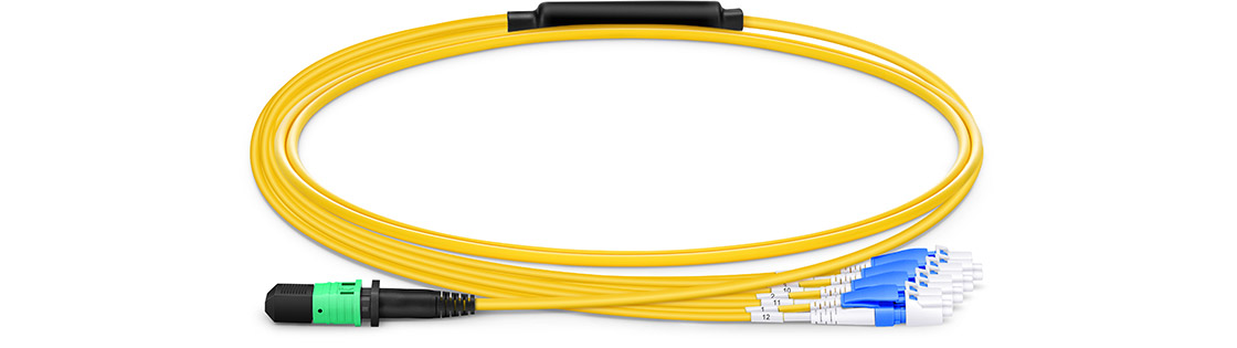 Maßgeschneiderte MPO LWL-Patchkabel  High Performance Multifiber Push On Solution