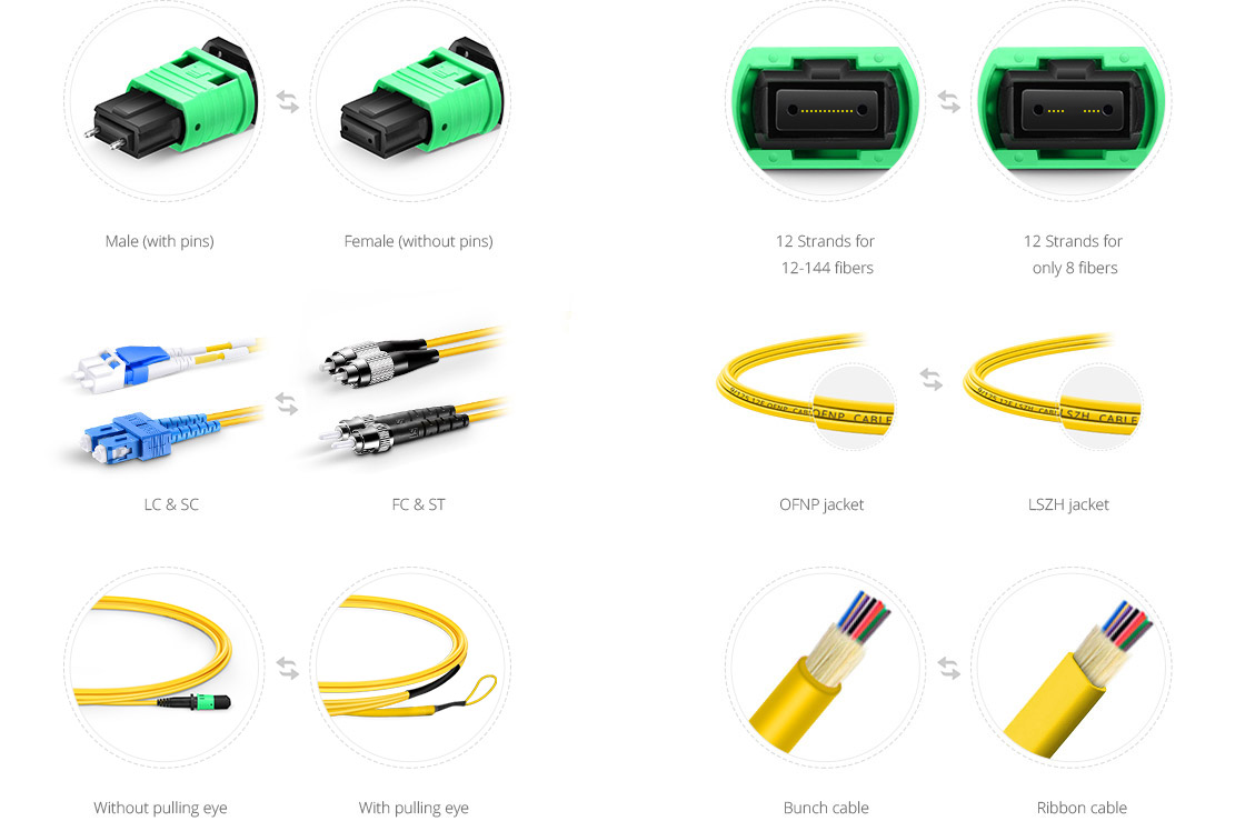 Maßgeschneiderte MPO LWL-Patchkabel  Custom Services to Satisfy All Your Needs