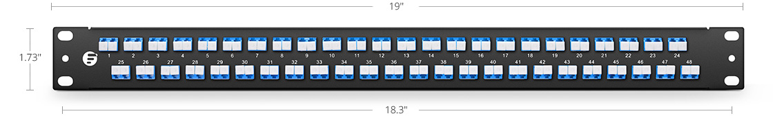 FHU 1U Patch Panels  High Density Assemble Mounting- Up to 96 Fibres