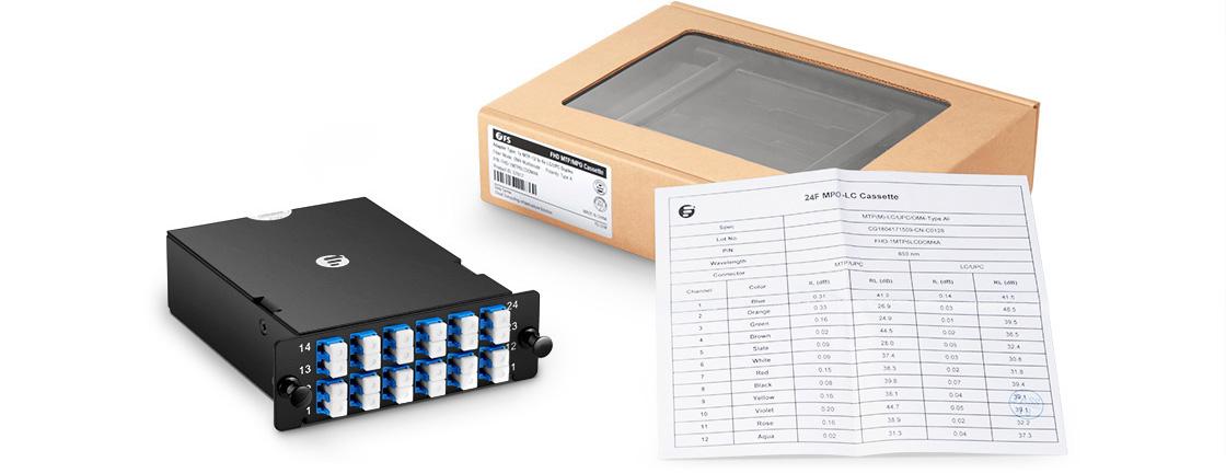 FHD MPO-LC Kassetten  Umweltfreundliche und Maßgeschneiderte Verpackung