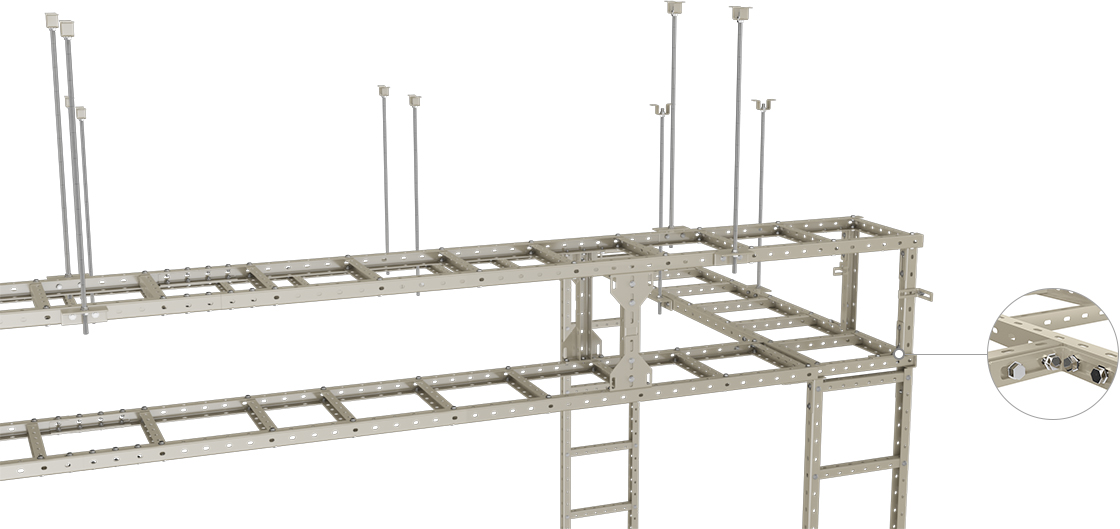 Steel U Cable Ladder  Easy-to-install  Cable Management