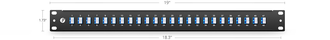 FHU 1U Patch Panels  High-quality Material Selection and Easy Assemble Mounting