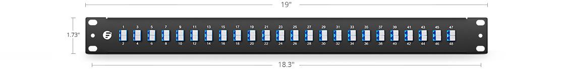 Paneles de Adaptadores Material de alta calidad y montaje simple