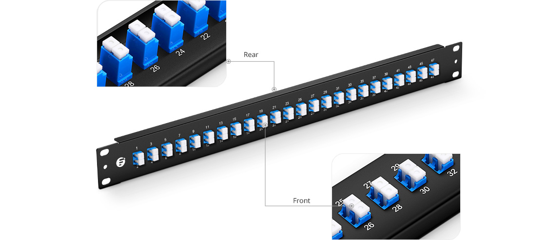 FHU 1U Patch Panels  Silk-screen Labels on Front & Rear