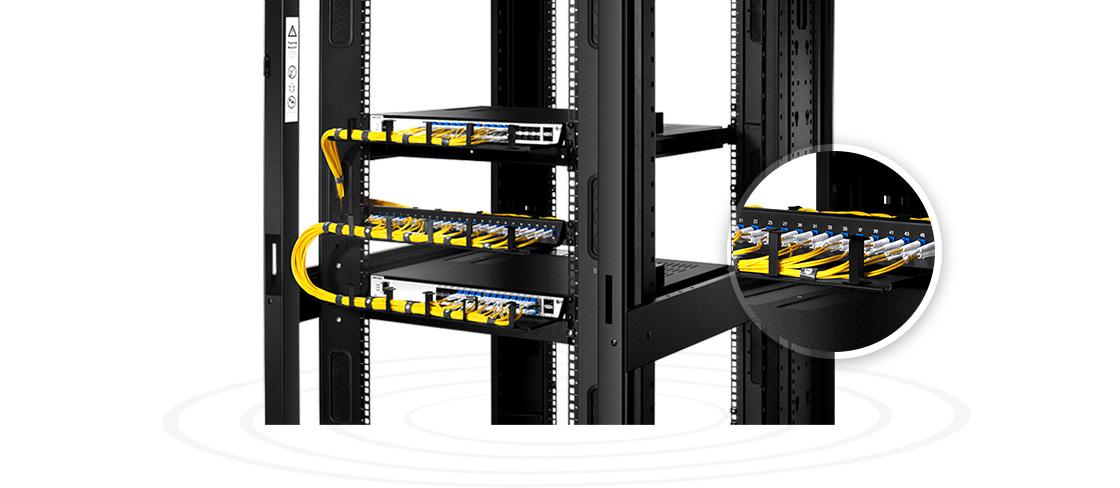 "FHU 1U Patch Panels  Small Device to High-effective Management- 48 Fibres 1U 19"" 24 Port Fibre Patch Panel"
