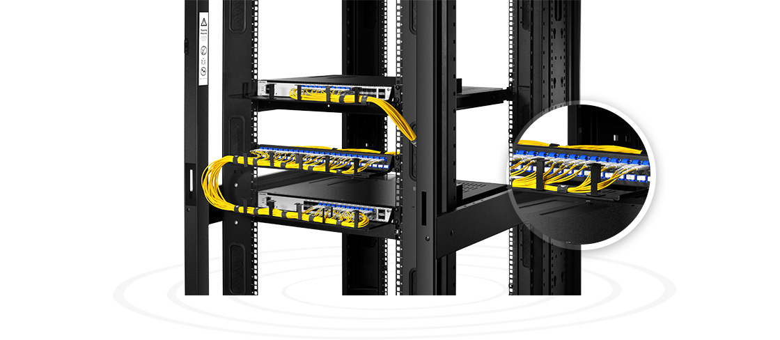 FHU 1U Patch Panels   Unique Staggered Ports- Sparing More Space to Easy Plug & Play