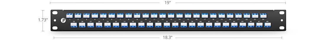 Paneles de adaptadores FHU 1U Montaje de alta densidad - hasta a 96 fibras