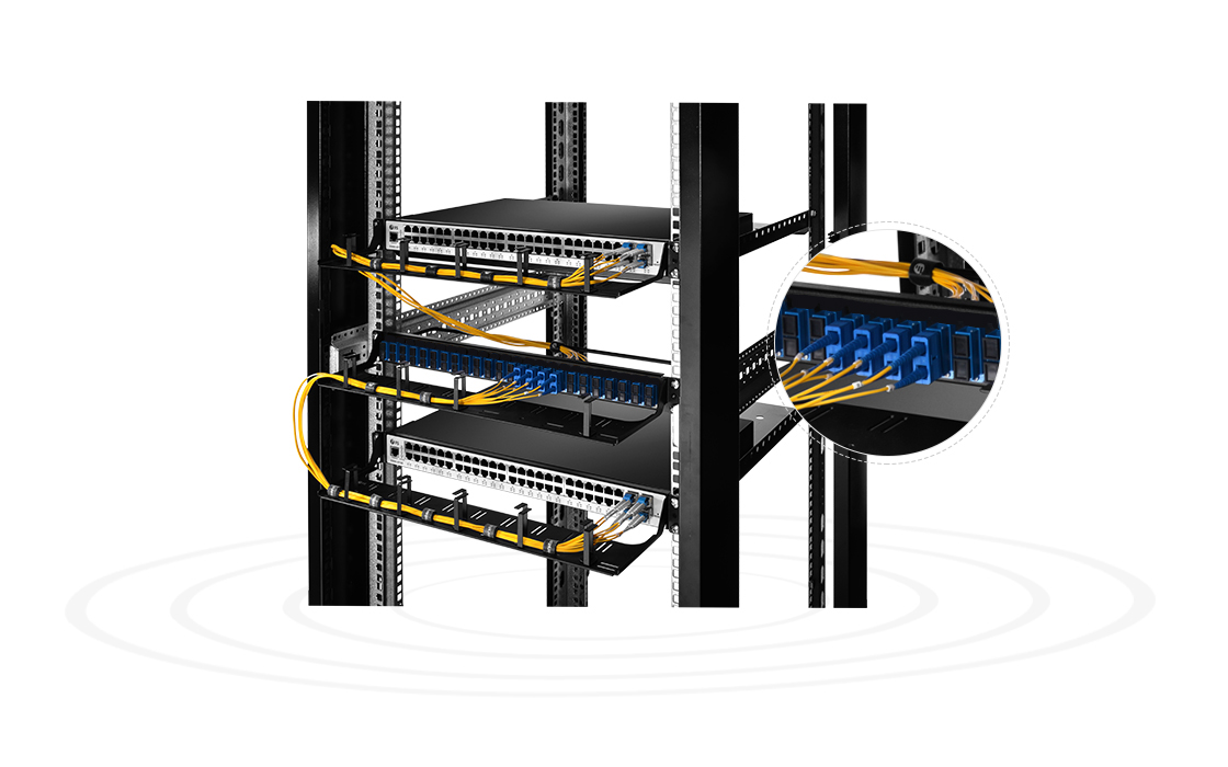 "Fibre Optic Panels Small Device to High-effective Management- 48 Fibers 1U 19"" Fiber Patch Panel"