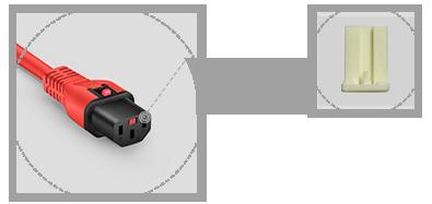 Locking Power Cords Internal Plastic Frame