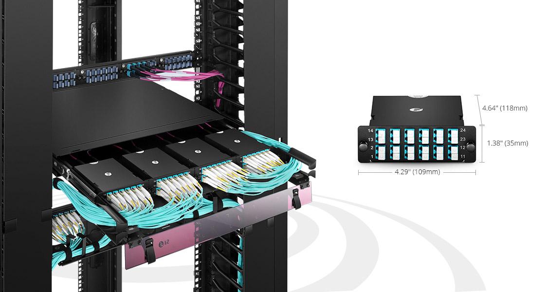 LWL-Kassetten Schnelle und werkzeuglose Installation