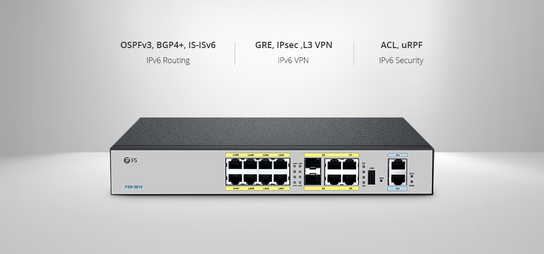 Routers   IPv4/IPv6 for Routing, VPN and Security Network