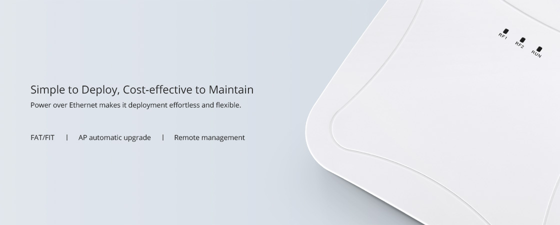 Enterprise Wi-Fi     Easy Mount Design and Flexible Deployment