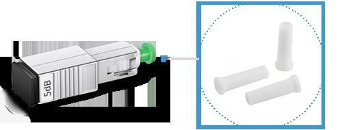 Atenuadores ópticos 1. Estuche flexible para una fácil portabilidad