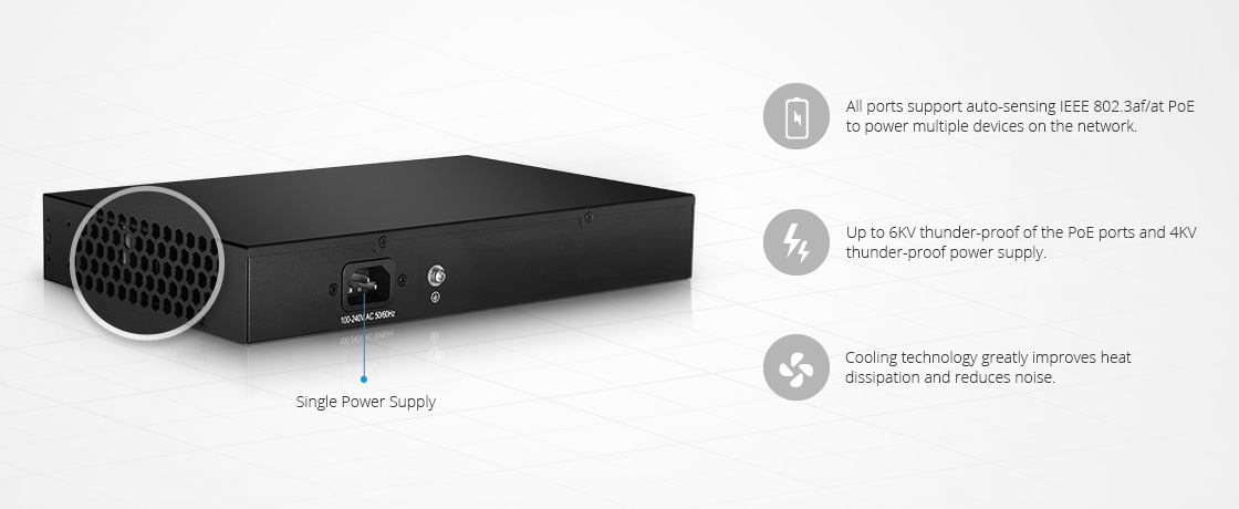 LAN Access Switches  New Power Supply Design for Thunder-proof