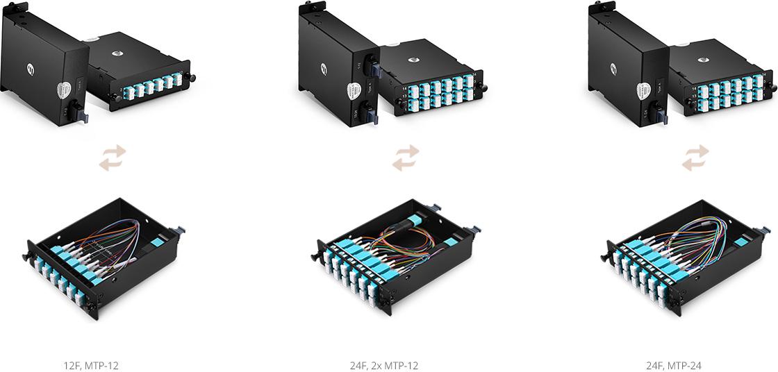 Cassettes de fibra óptica FHD Cassette Base-12 o Base-24, que cumple tus necesidades