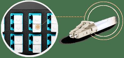 FHD MTP®-LC Cassettes LC Duplex Adapter Port Identification