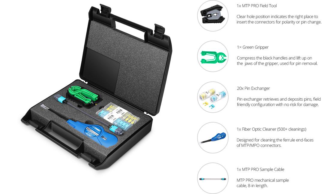 Fiber Optic Tool Kits  MTP PRO Field Tool Components