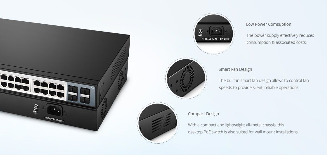 Switches 1G/10G  Diseño de hardware superior