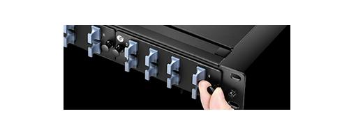 Fibre Optic Panels Tool-less Installation with Plastic Rivets