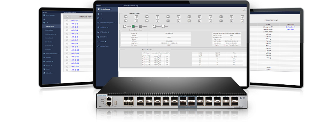 100G Switches  Excellent Manageability
