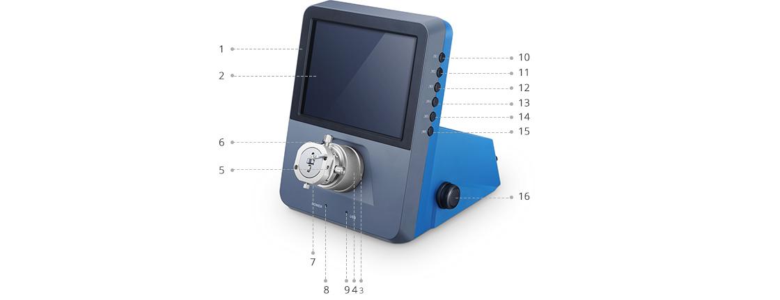 Fiber Optic Inspection Body of 400X Desktop Video Three-dimensional (3D) Microscope