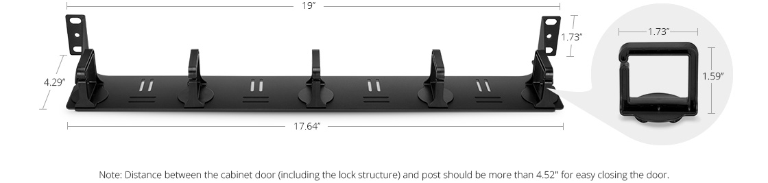 Horizontal Cable Manager  Rigorous Dimension Design, for Your Cable Management
