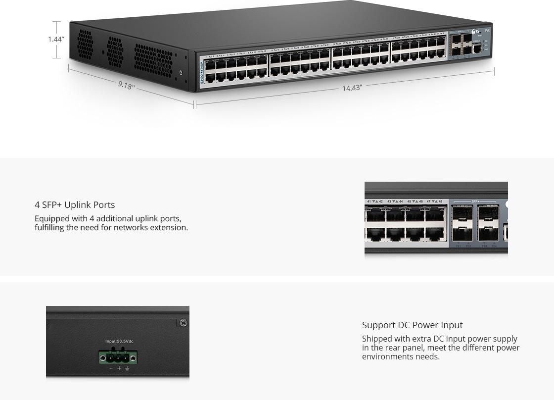 LAN Access Switches  Compact and Lightweight Housing Design