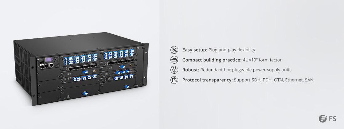 180G - 1T WDM Transport Platform Highly Integrated Extending Multiplexing Platform