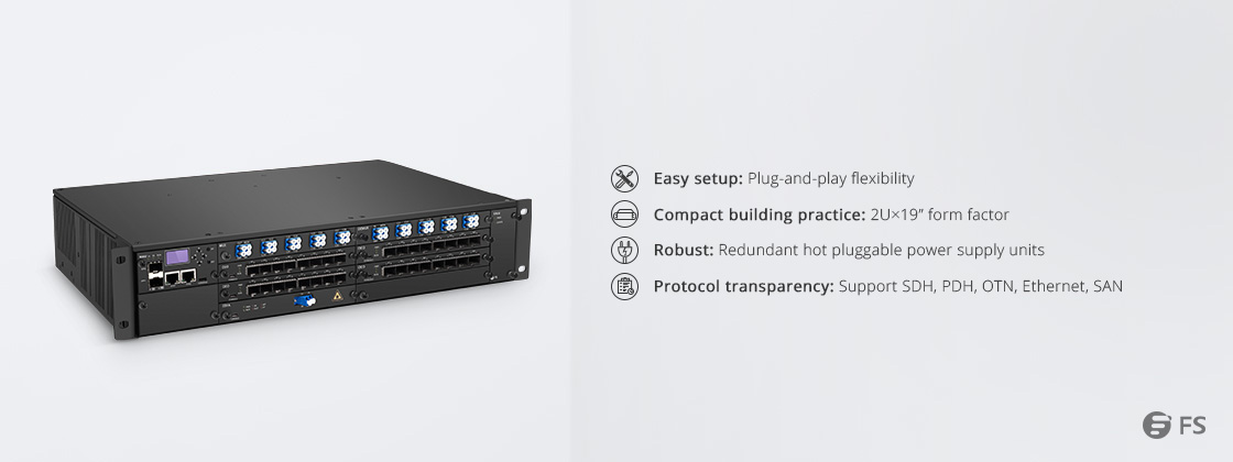 180G - 1T WDM Transport Platform Highly Integrated Extending Multiplexing Platform