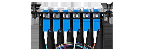 LWL-Kassetten Sicherheitsplatte mit TFC-LWL-Adapter