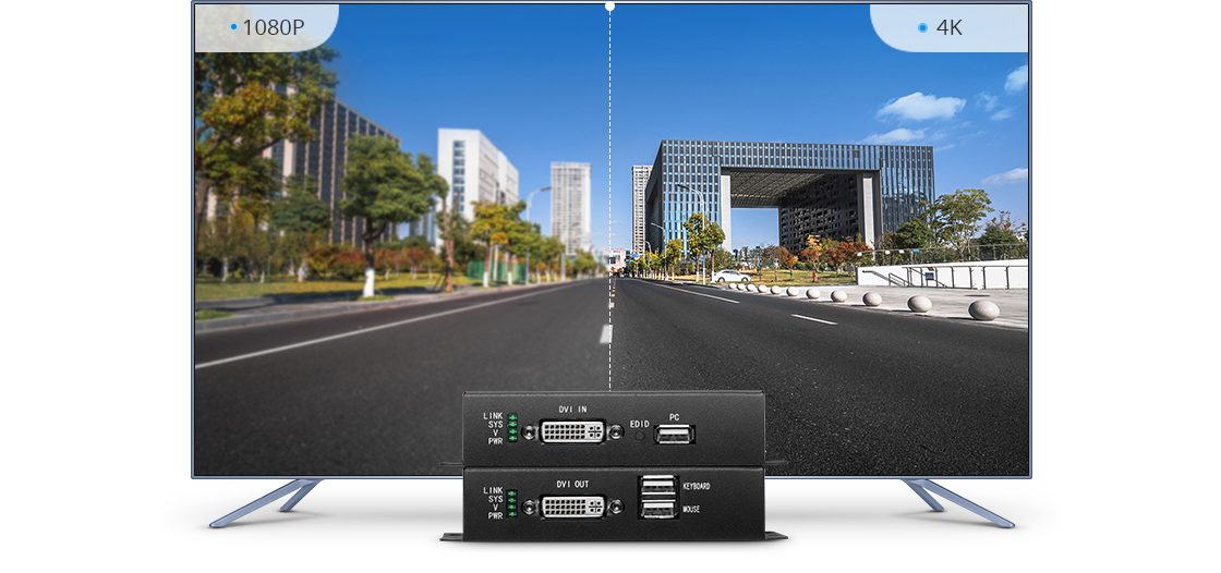 Extenders  Professional Grade for 4K DVI HD Video Extender