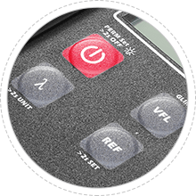 Medidores de potencia óptica Diseño de botones antipolvo