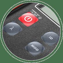 光ファイバ光源装置 防塵ボタン設計