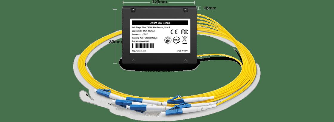 LWDM Mux Demux Mux/Demux de 6 canales sobre una sola fibra
