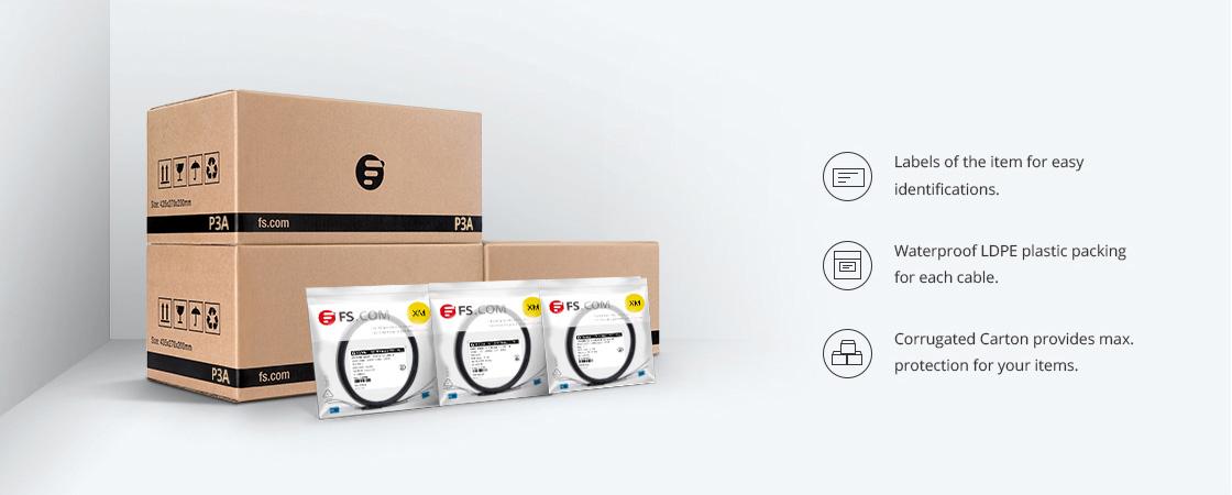 Cables de fibra óptica FTTA Embalaje y etiquetado ecológicos