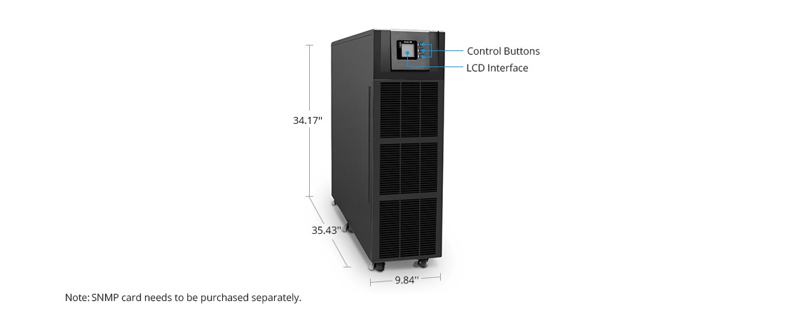 UPS Power Supply On-Line UPS with Visual Display