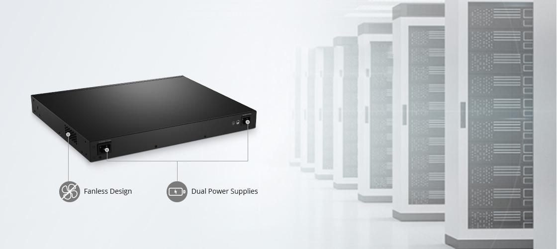 1G/10G Switches Fanless, Noiseless Design