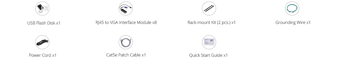 Cat5e KVM Switches Packing List