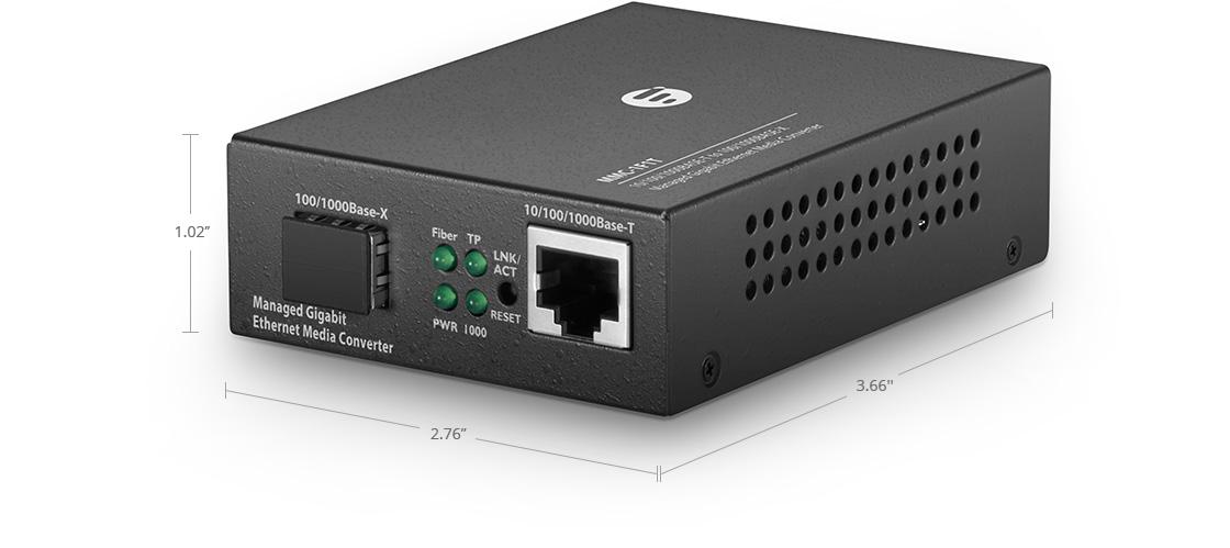 ManagedMediaConverters Managed 1x RJ45 to 1x SFP Gigabit Ethernet Media Converter